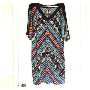 Vibrant patterned dress/tunic